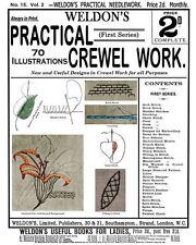 Weldon's 2D #15 c.1886 Practical Crewel Embroidery Work Vintage Designs Repro