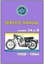 AJS Workshop Manual Model 14 14CS 14S 14CSR 8 1958 1959 1960 1961 1962 1963 1964