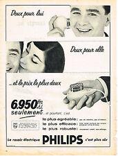 PUBLICITE ADVERTISING  1957   PHILIPS   rasoir