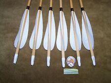 6 New  PO CEDAR Wood Traditional long bow archery  Arrows 35/40  5/16