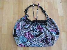 Damen Schultertasche bunt Batik Stofftasche schwarz blau rot 40 cm breit