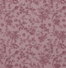 Musselin ROMANTIK mit Rosen & Vögeln, altrosa - rosa, 12,90 €/m