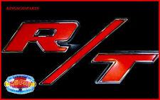 2011 2014 DODGE CHARGER RT GRILL NAMEPLATE EMBLEM RED BLACK CHROME MOPAR OEM