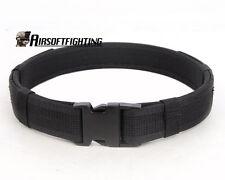 "Airsoft 1.5"" Tactical Load Bearing Cambat Duty Web Belt-Black A"