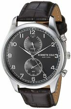Kenneth Cole New York Men's Stainless Steel & Leather Quartz Watch KC50913001