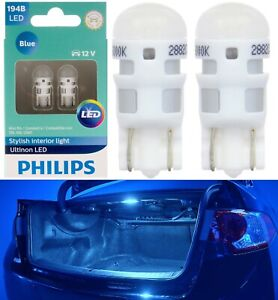 Philips Ultinon LED Light 194 Blue 10000K Two Bulb License Plate Tag Replace Fit