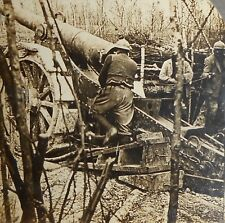 WWI A French 155 mm Gun Stereoview Card Free Shipping
