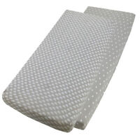 Crib Fitted Sheet 100% Cotton 40x90cm - 1x Clouds / 1x White Stars