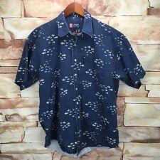 A32 Ralph Lauren Chaps Men's Size Large Blue School of Fish Short Sleeve Shirt