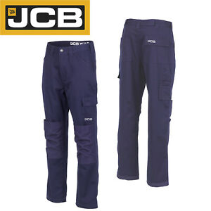 JCB Workwear Essential Multi Pocket Cargo Trousers Navy D+AQ