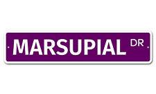 "6715 Ss Marsupial 4"" x 18"" Novelty Street Sign Aluminum"