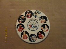 NBA Philadelphia 76ers Vintage '83 Champs 3 Inch Photo Basketball Pinback Button