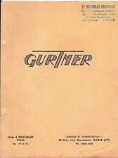 Catalogue pièces Gurtner + réglages moteurs postérieurs à 1945-Vélomoteurs-Motos