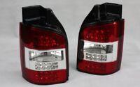 Set de Luces Traseras Led para VW T5 03-09 Vorfacelift Puertas Rojo Claro +