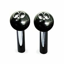 Mooneyes Türknöpfe Pin Black Eyes, Hotrod Kult Custom Moon Equipped Bonneville