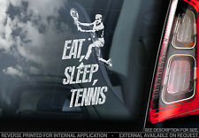 EAT, SLEEP, TENNIS! - Car Window Sticker - Federer Tennis Decal Fan Vinyl - V02
