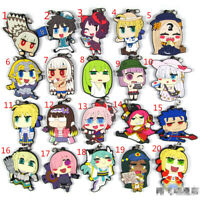 Anime Fate/Grand Order Rubber Keychain Key Ring Rare straps cosplay