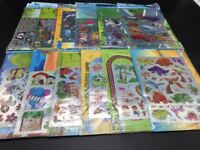 Bulk 1-12pcs Kids Stickers Activity Sheets DIY Craft Kit Christmas Party Favor