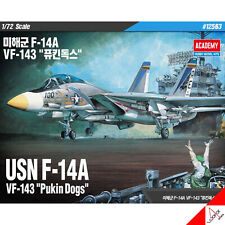 "Academy 1/72 USN F-14A VF-143 ""Pukin Dogs"" Hobby Plastic Model kit Toy #12563"