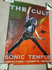 The Cult Sonic Temple promo poster Rare Authentic