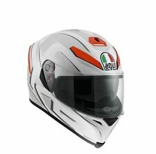 AGV K-5 CASCO INTEGRAL K5 K-5 MÚLTIPLES - YOU BLANCO/MATE - NARANJA TALLA M/S