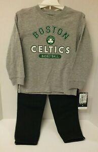 Toddler NBA Boston Celtics Basketball Long Sleeve T-Shirt Pants Size 4T 2-pc Set