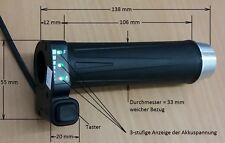 Neu: Drehgriff Gasgriff für eBike mit Taster, beste Akkuspannugsanzeige 36 Volt