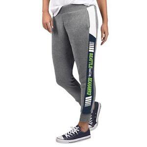 NFL Seattle Seahawks Officially Licensed Women's Fleece Tailgate Pants G-III