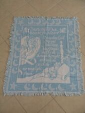 """Baby Blanket """"Now I Lay Me Down to Sleep"""" for crib/nursery 100% Soft Cotton"""