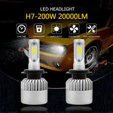 20000LM 200W H7 LED Headlight Kit Low Beam High Power 6500K White Bulb CANBUS