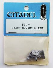 Citadel RAFM FTD-4 Dwarf W/Mace & Axe Sealed Blue Catalogue 1981 Rare Pre Slotta