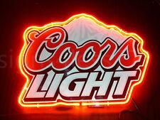 """New Coors Light Mountain Neon Light Sign 14""""x10"""" Man Cave Beer Glass Artwork Bar"""