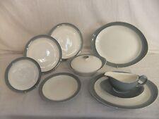 C4 Pottery Wedgwood of Etruria & Barlaston Moonlight, grey & ivory, vintage 7F6B