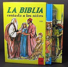 LA BIBLIA CONTADA A LOS NINOS Dos volúmenes de tapa dura Slipcase Spanish Bible