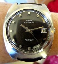 Gents 1970's Swiss SS Swiss Emperor 25J Automatic Date Watch ETA 2789 Serviced