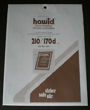 Hawid Stamp Mounts Size 210/170d BLACK Background Pack of 5