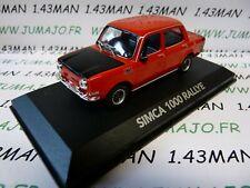 VMP13 voiture 1/43 NOREV atlas voiture de mon père : SIMCA 1000 Rallye