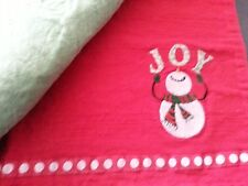 3 Holiday embroidered Holiday cotton embroidered placemats 12 x 18 vintage
