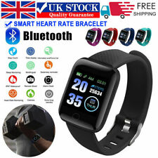116 Plus Android iOS Sport Activity Fitness Tracker Band Bracelet Smart Watch UK