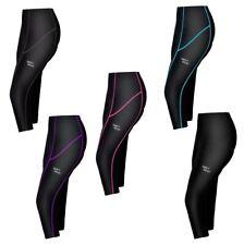Ladies 3/4 Three Quarter Leggings Running Fit Training Anti Bac Coolmax Padded