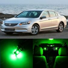 15 x Green LED Lights Interior Package For Honda ACCORD 2003 - 2012 + Pry TOOL