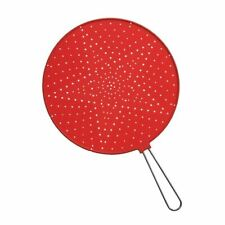 Zeal Splatter Guard Silicone Stainless Steel Handle (32cm) Red