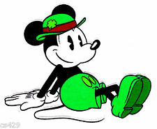 "3.5"" Disney mickey leprechaun sitting fabric applique iron on character"