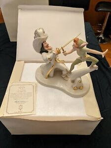 """RARE FIND ! Retired Lenox disney peter pan """"Lets have at it' Number 1896 / 1953"""