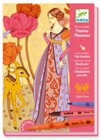 Brand New DJECO Felt Brushes - Tales & Legends Art Kit DJ8643 Art By Numbers