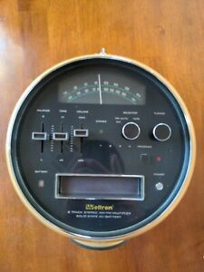 Weltron 2001 8 Track Player AM/FM Stereo. Space Ball Space Helmet Vintage 1970's