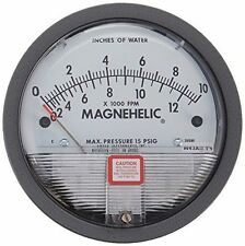 Dwyer 2010AV Magnehelic Differential Pressure Gauge 0-10w.c. & 2000-12,500 fpm