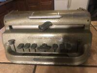 Vintage Perkins Brailler David Abraham Braille Typewriter, Works, with Case