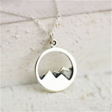 Fashion Women Silver Hollow Round Mountain Shape Necklace Pendant Chain Gift