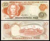 PHILIPPINES 20 Pesos, 1970, P-150, Quezon/Malakanyang palace, UNC World Currency